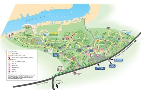 Exbury Gardens 3D map