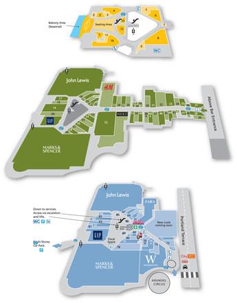 West Quay shpping centre, Southampton 3D map