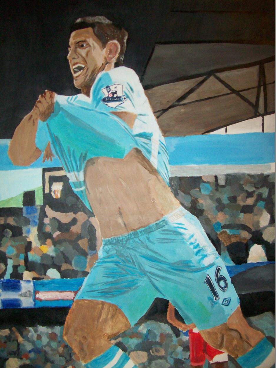 Sergio Aguero Painting