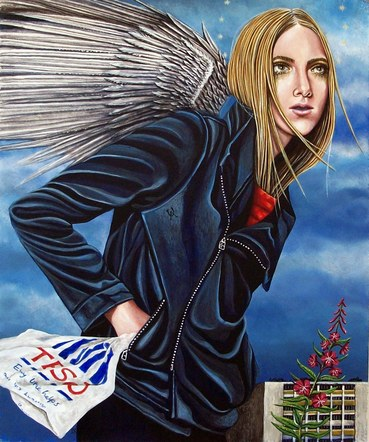 Angel with Carrier Bag.
