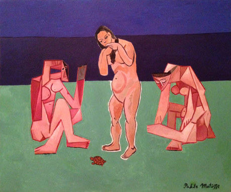 Three Bathers and a Turtle, by Pablo Matisse