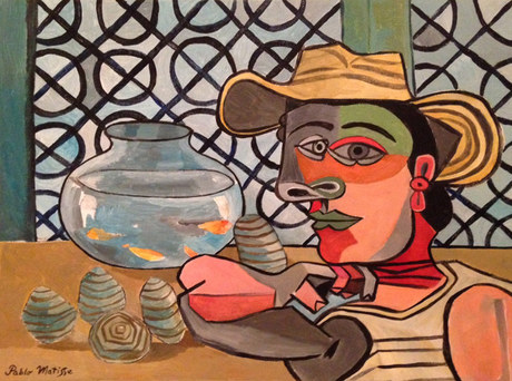 Sailor before an Aquarium, by Pablo Matisse