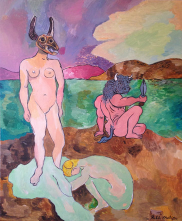 Luxe Minotaur with a Dagger, by Pablo Matisse