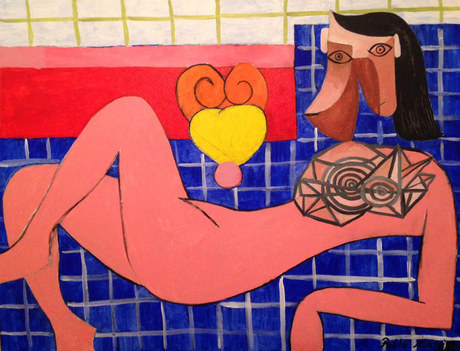 Pink Nude Woman, by Pablo Matisse