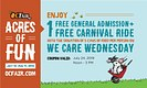 OC Fair Coupon We Care Wednesday Coupon Concept (Front)