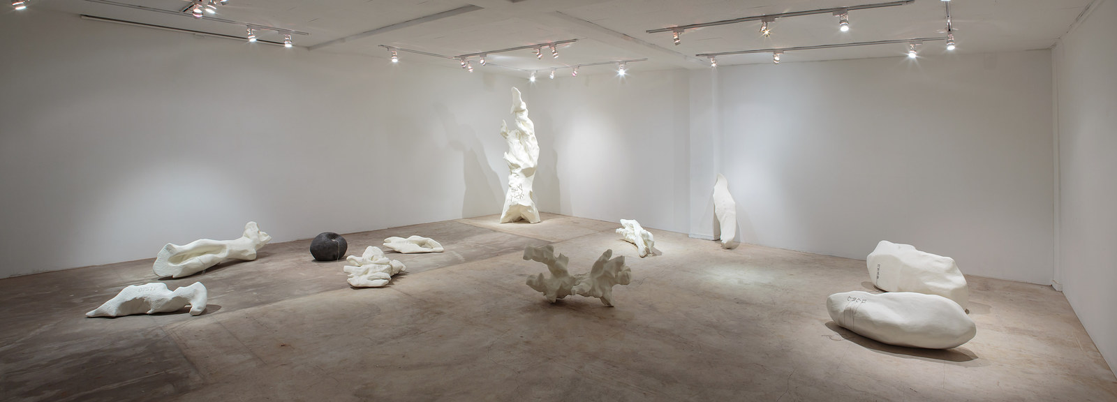 White lump installation view