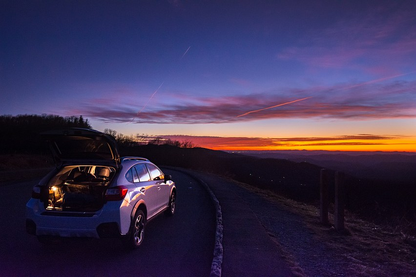 Blue Ridge Parkway Sunrise Chase