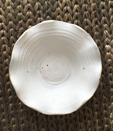 shallow fluted bowl