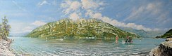 (Ref. 158)  Fun on the lake - (180° Panorama) - CHF 1080