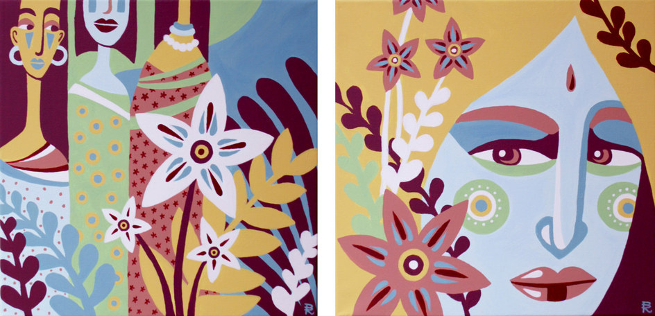 Exotic diptych