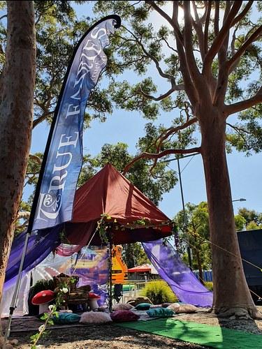 True Fairies - Story time tent festival setup