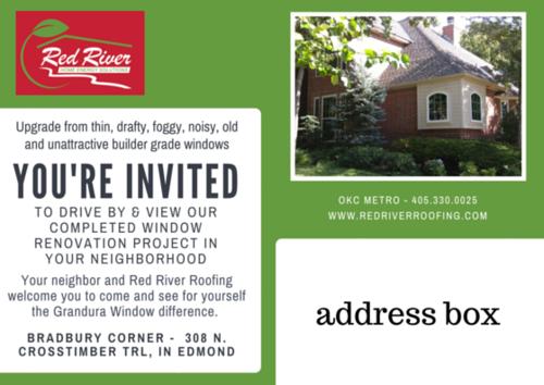 Window Project Open House Postcard Mailer