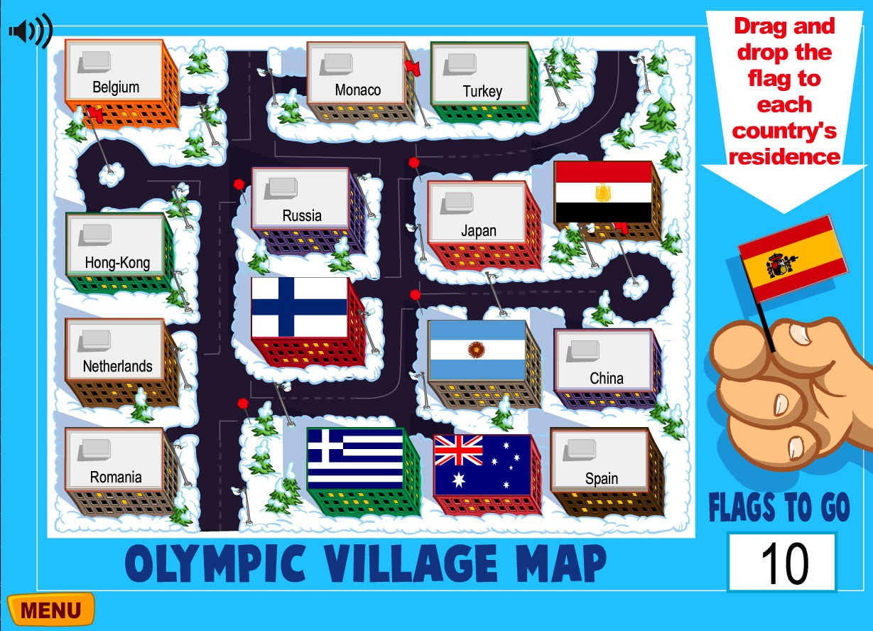 Olympics.ca - flag-countries game
