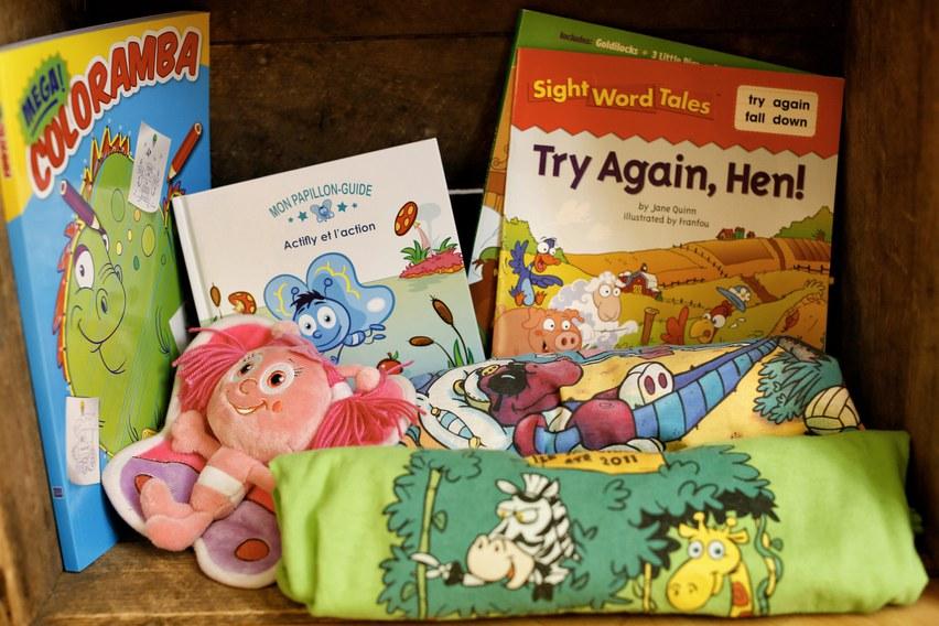 Coloring book - plush - tshirt - books