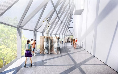 Interior Rendering - Sculpture Gallery
