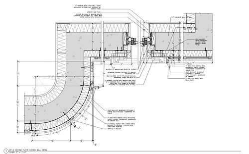 Plan-Section at Curved Wall