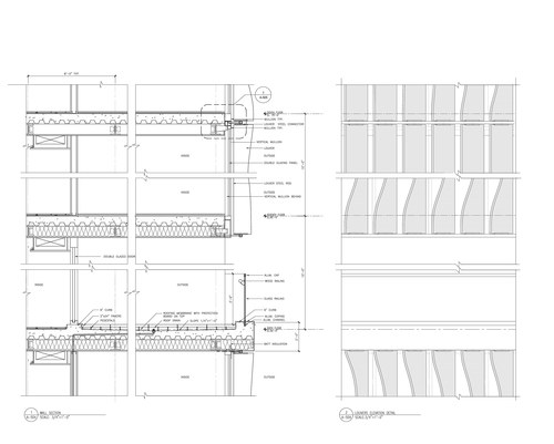 Curtain Wall Section and Elevation