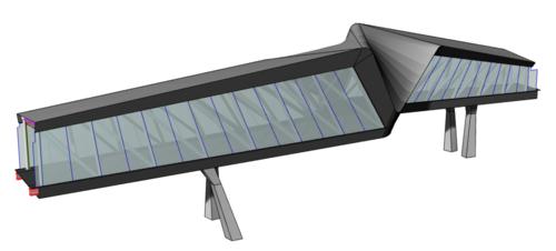 Rhino Model - Glass and Metal Cladding
