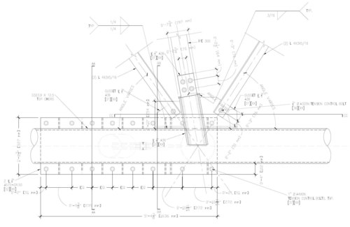 Top Structural Steel Connection Detail