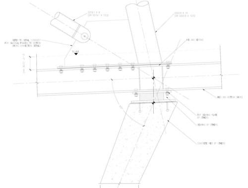 Typical Steel Connection to Concrete Plinth Column Detail