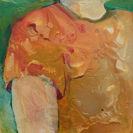 Untitled (orange shirt) - SOLD