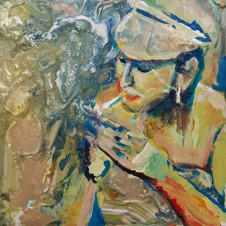Lulu Smoking - SOLD