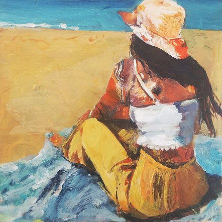 Beach girl - SOLD