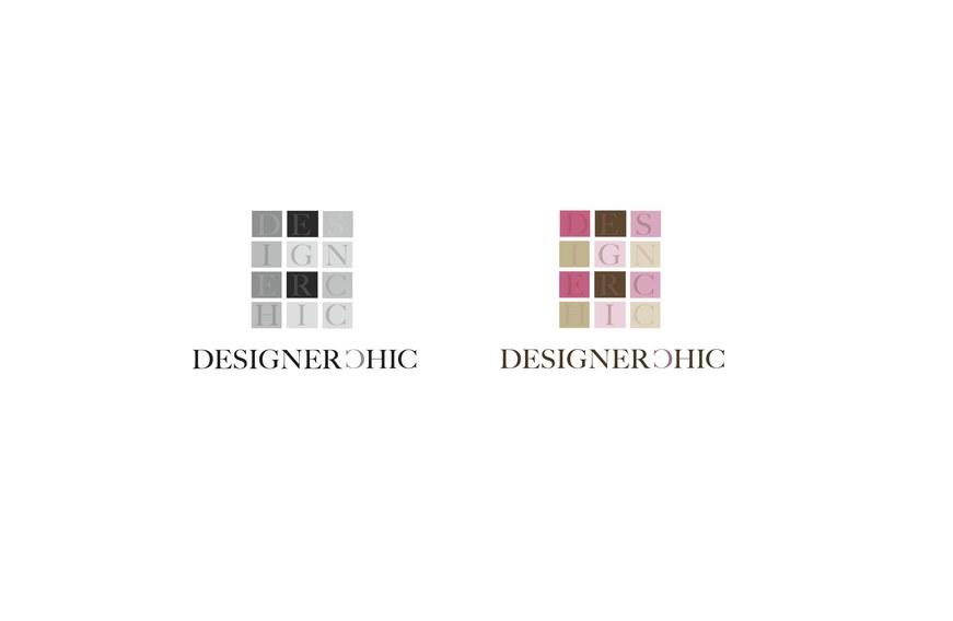 Designer Chic sample logos w/Grey scale