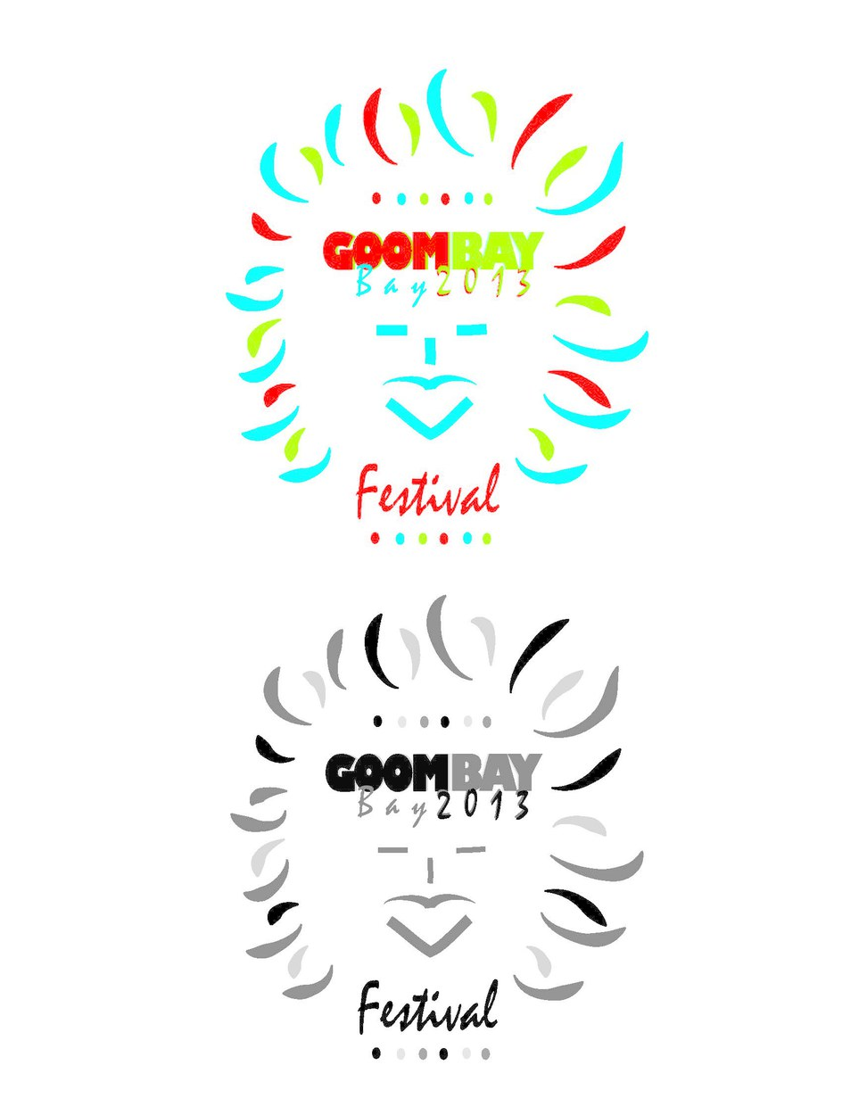 Goombay Festival Logo w/Grey scale