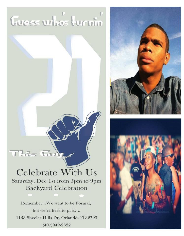 Fun 21st Birthday Invitation