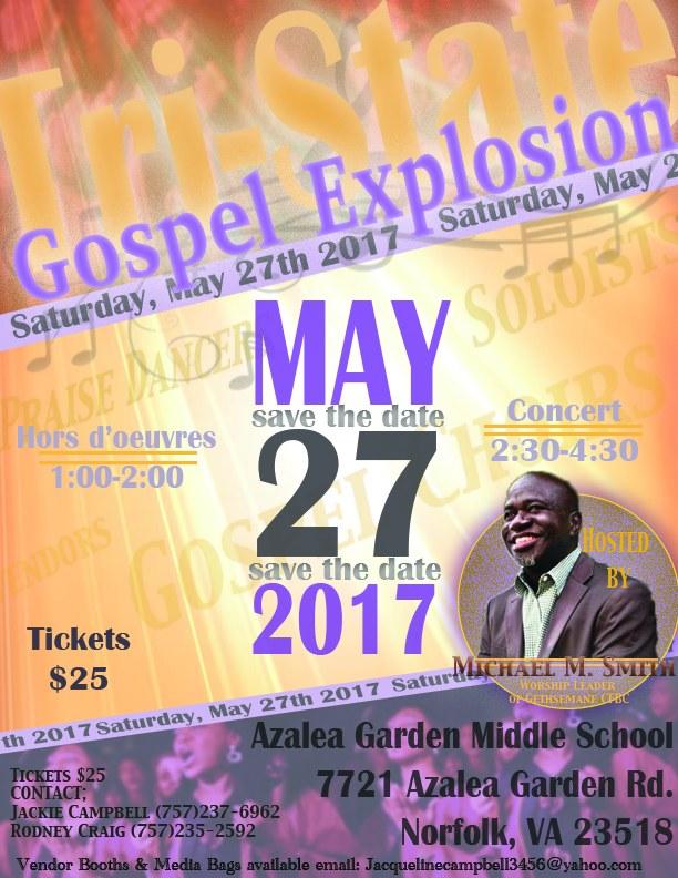 Gospel Explosion Flyer