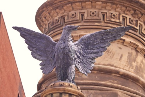Figure of an Eagle on Memorial