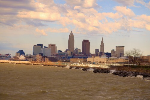 Cleveland Overlooking Lake Erie