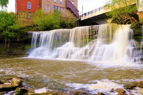 Waterfall in Chagrin Falls