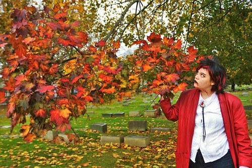 Vampire Girl in Autumn