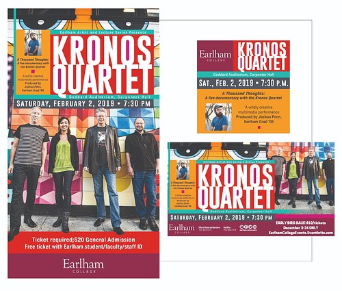 Event Poster, Kronos Quartet at Earlham College
