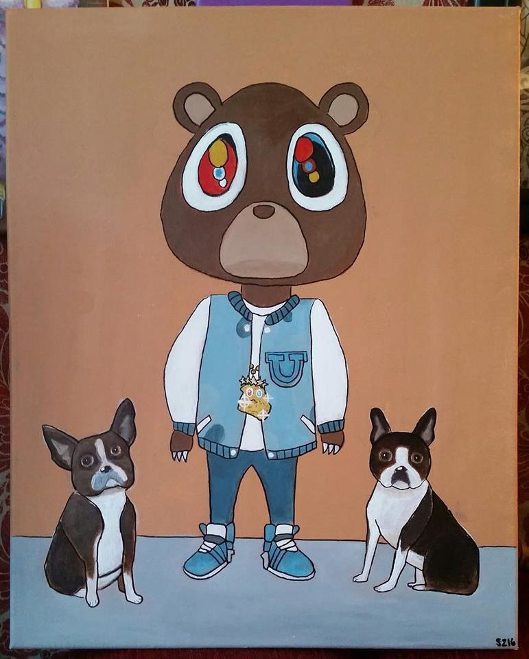 Kanye Bear for Lindsey (Commission)