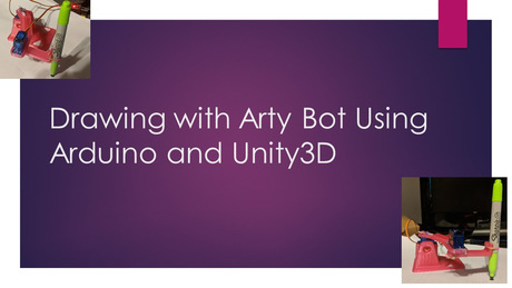Drawing with Arty Bot Using Arduino and Unity3D (WIP)