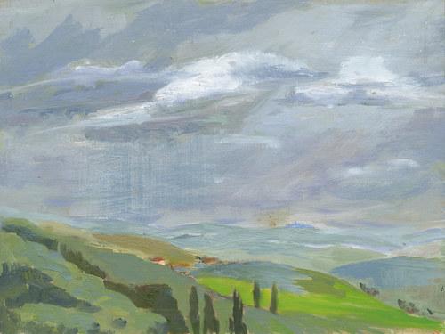 Tuscan Hills in Rain