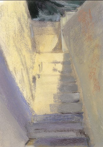 My Condo Stairs (after John Singer Sargent)