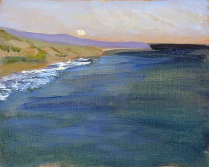 Gaviota Moonrise