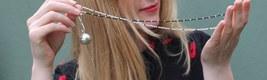 Tinkling pendant ,rockcrystal-onix necklace