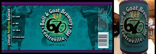 Bull & Goat Brewery: 670 IPA label