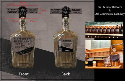 Old Courthouse Distillery Label Proof