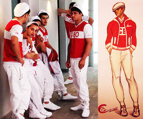 2012 London Olympics Team Georgia Uniforms For The Opening Ceremony