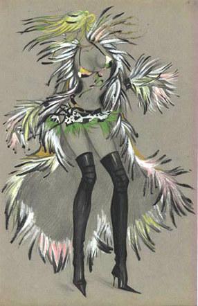 Dancer's costume for Adjara nightclub