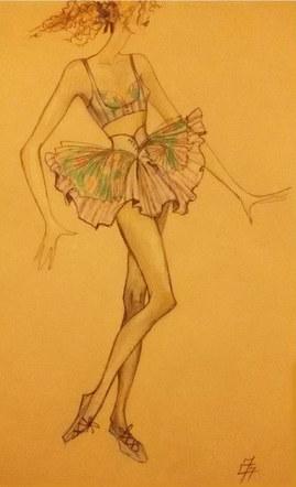 Dancer's costume for ballet-film adaptation of Porgy and Bess