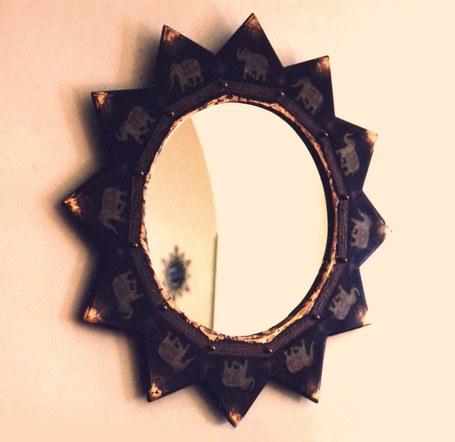 Mirror With Elephants