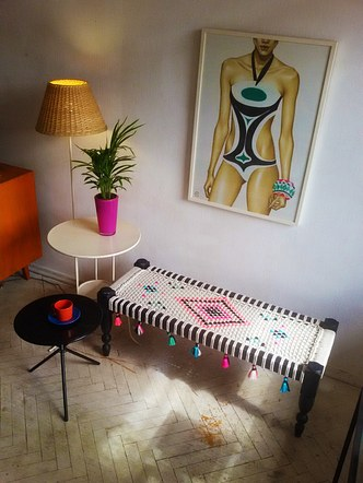 Woven Bench / ნაქსოვი სკამი