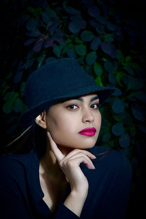 Asian Girl with hat beauty